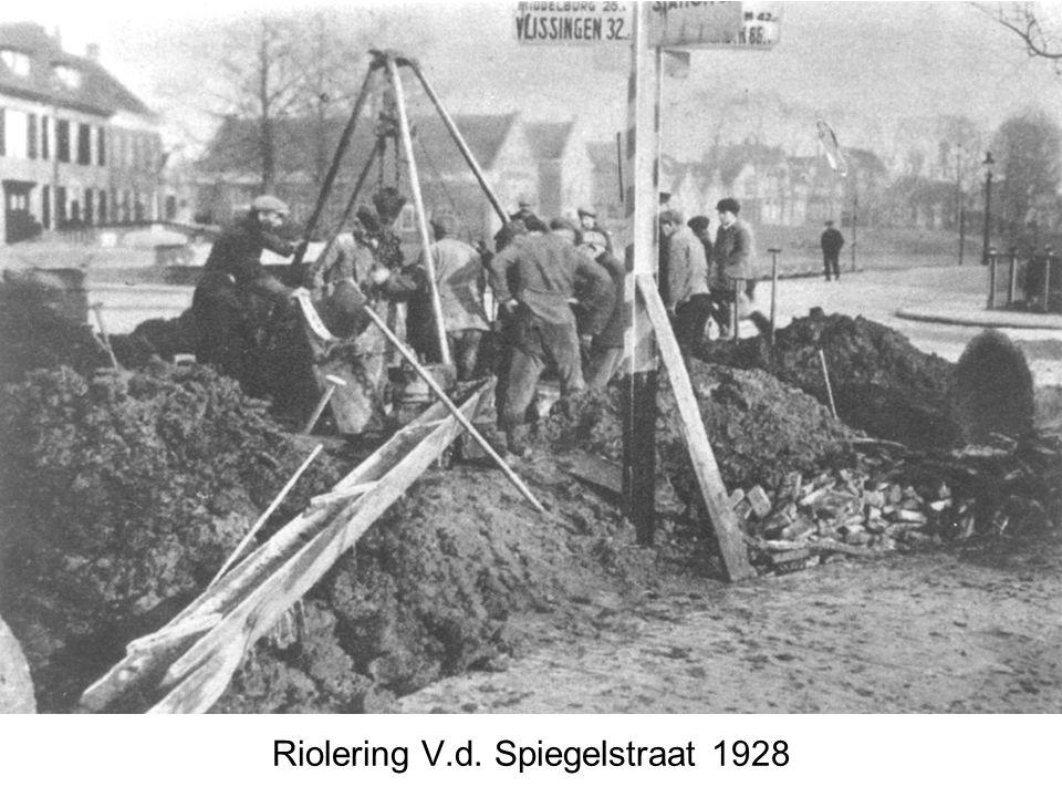 Riolering V.d. Spiegelstraat 1928