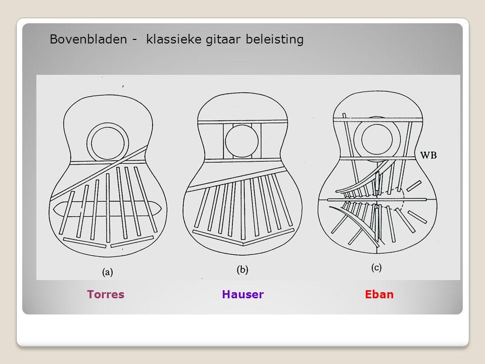 TorresHauserEban Bovenbladen - klassieke gitaar beleisting