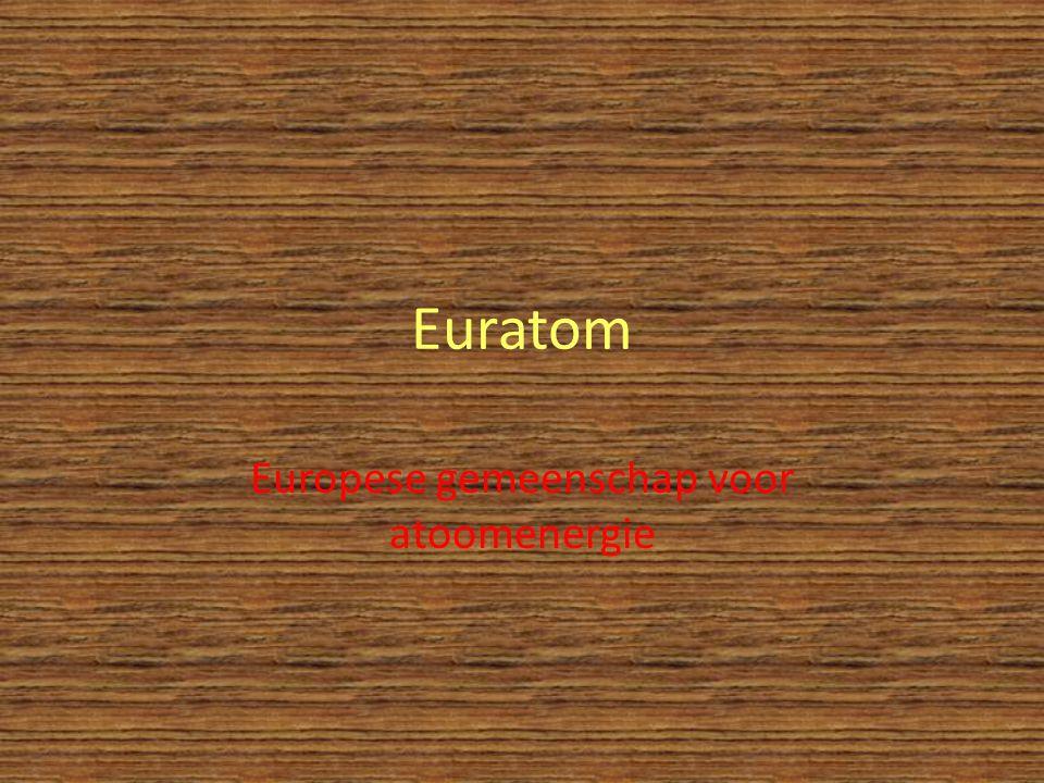 Euratom Europese gemeenschap voor atoomenergie