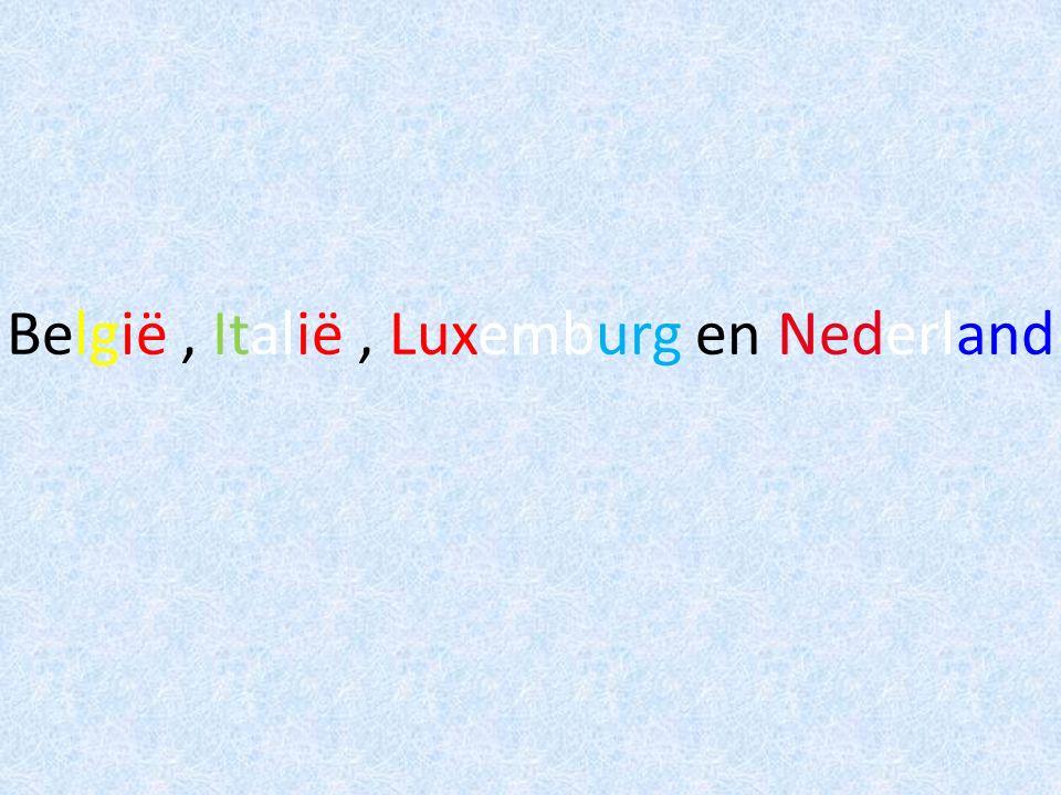 België, Italië, Luxemburg en Nederland