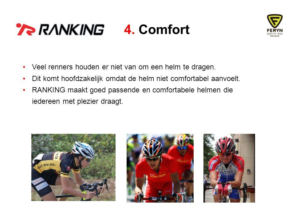 Veel renners houden er niet van om een helm te dragen.