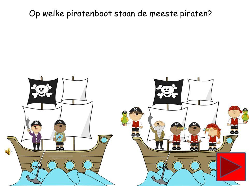 Op welke piratenboot staan de meeste piraten?
