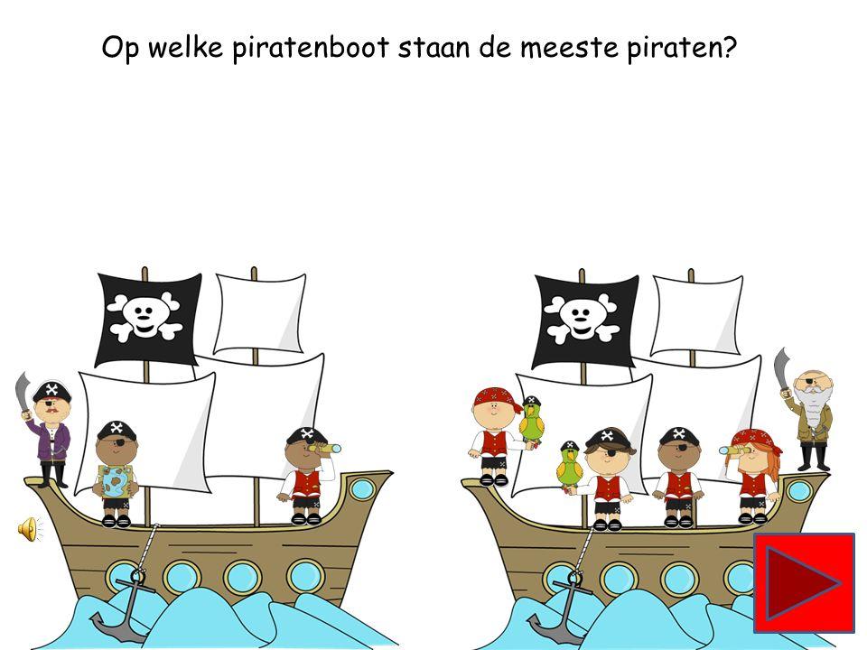 Op welke piratenboot staan de minste piraten?
