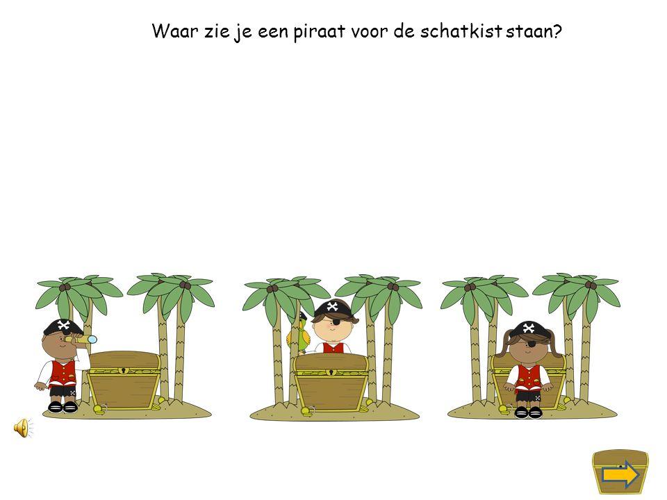 Waar zie je een piraat met een verrekijker?