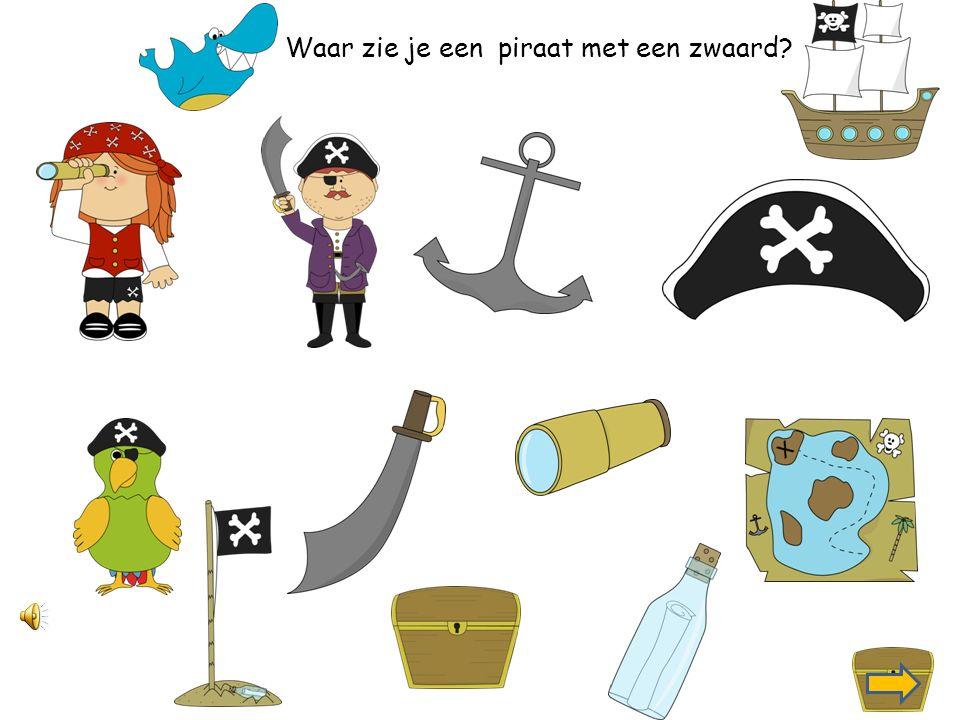 Waar zie je een piratenhoed?