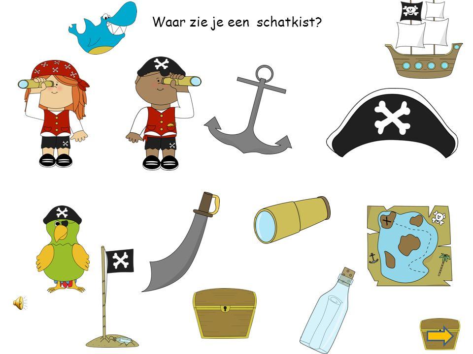Waar zie je een piratenboot?
