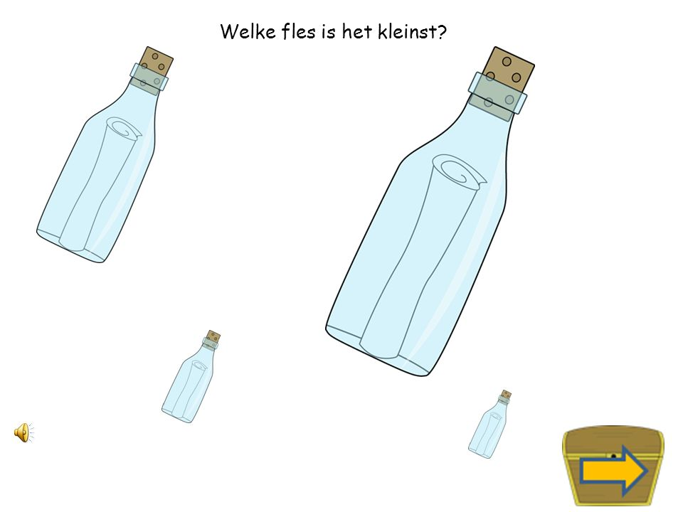 Welke fles is het grootst?