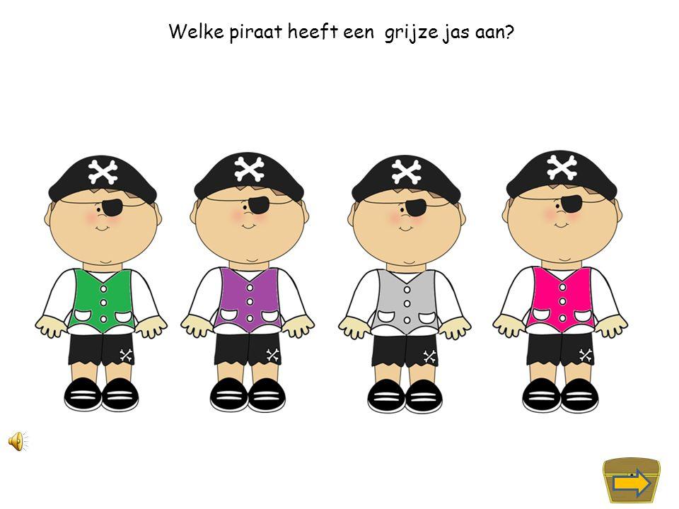 Welke piraat heeft een roze jas aan?