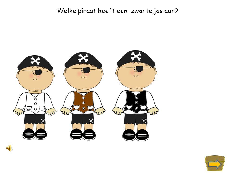Welke piraat heeft een witte jas aan?