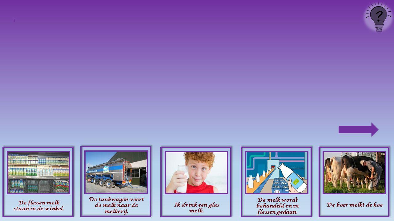 Zet, op de volgende dia's, de afbeeldingen met uitleg in de juiste volgorde.