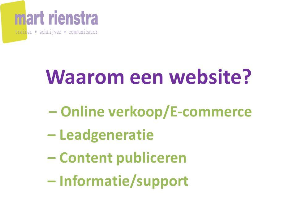 Wat wil jij bereiken met je website.- dat bezoekers meteen zaken met je gaan doen.