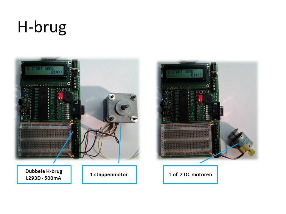 H-brug Dubbele H-brug L293D - 500mA 1 stappenmotor 1 of 2 DC motoren