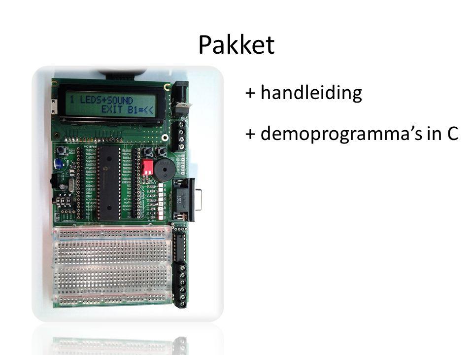 Pakket + handleiding + demoprogramma's in C