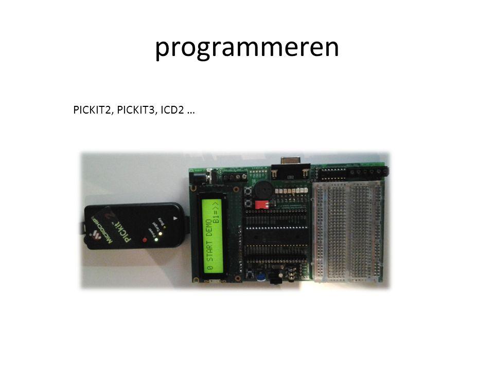 programmeren PICKIT2, PICKIT3, ICD2 …
