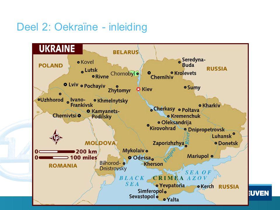 Deel 2: Oekraïne - inleiding