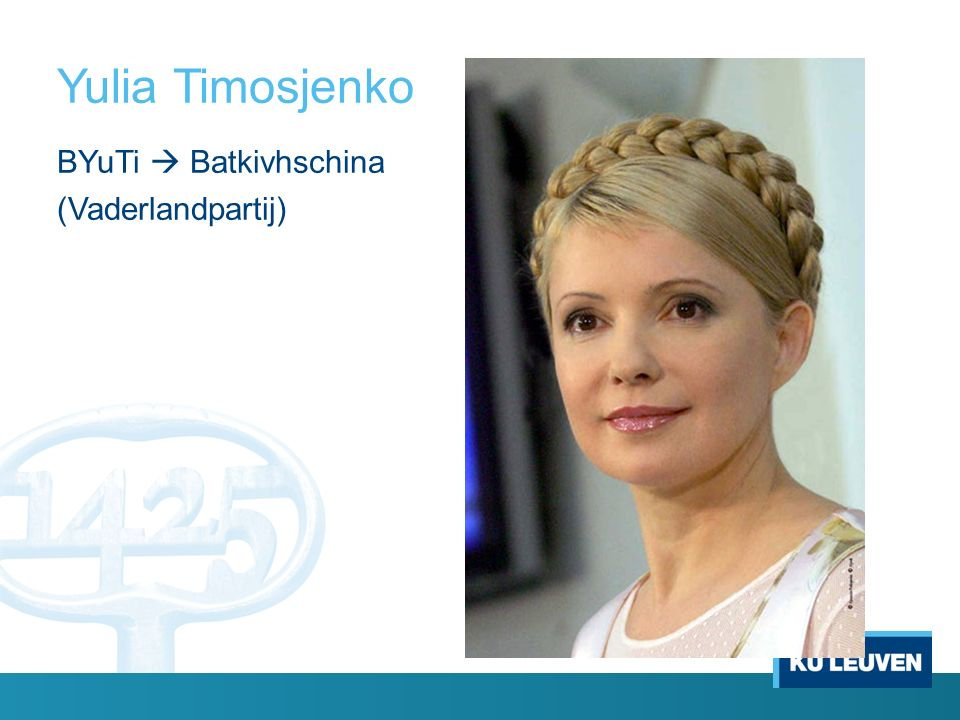 Yulia Timosjenko BYuTi  Batkivhschina (Vaderlandpartij)
