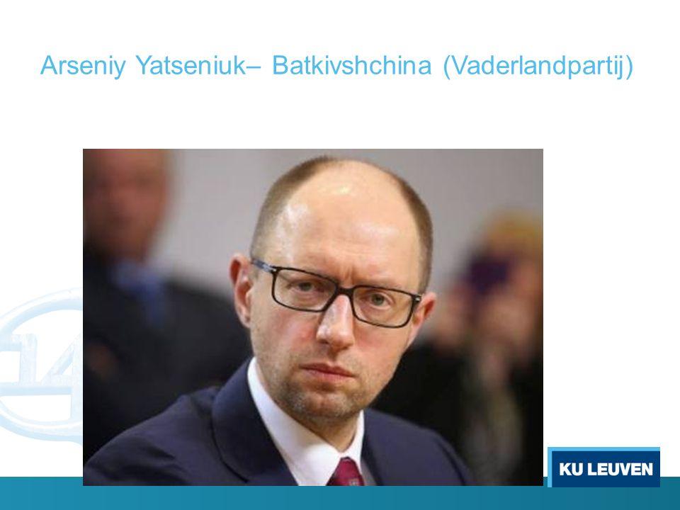 Arseniy Yatseniuk– Batkivshchina (Vaderlandpartij)