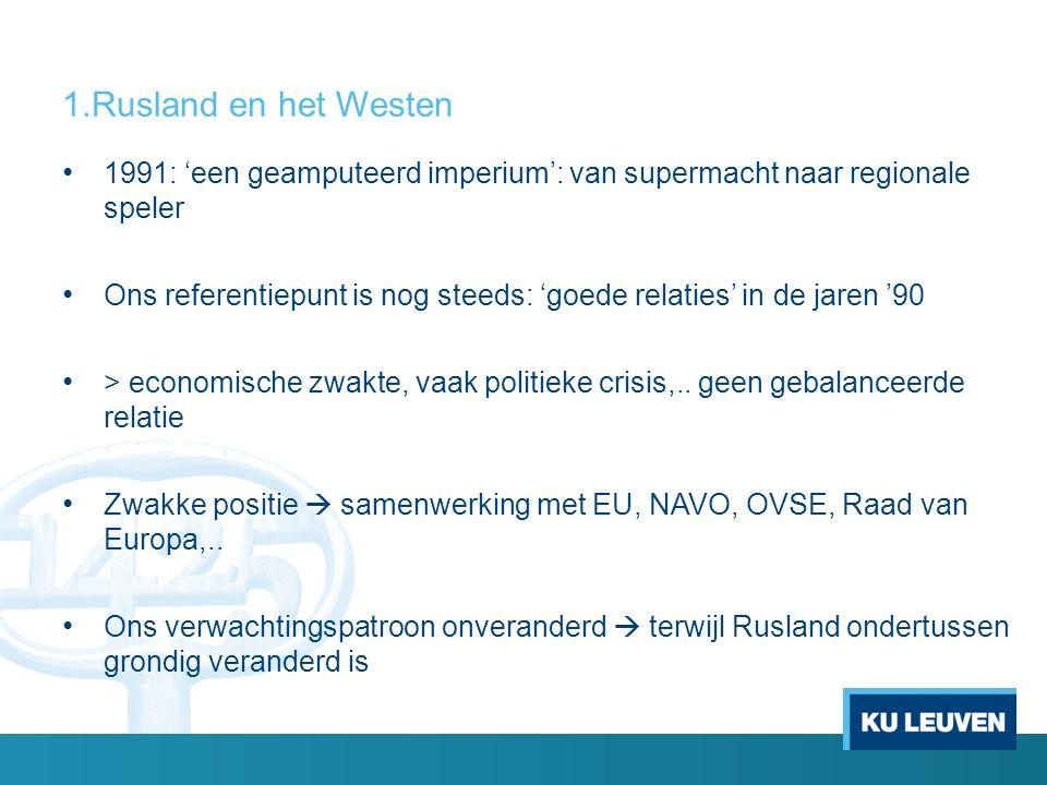 Problemen na onafhankelijkheid 1991 1.Grenzen, nucleaire non-proliferatie en Zwarte Zeevloot 2.