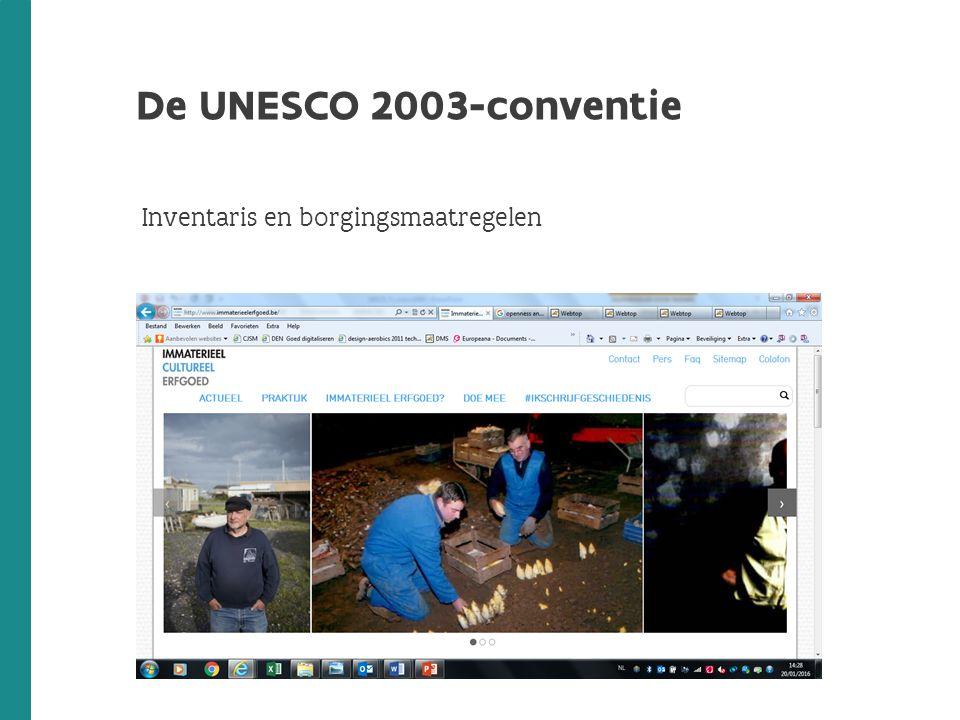 De UNESCO 2003-conventie Inventaris en borgingsmaatregelen