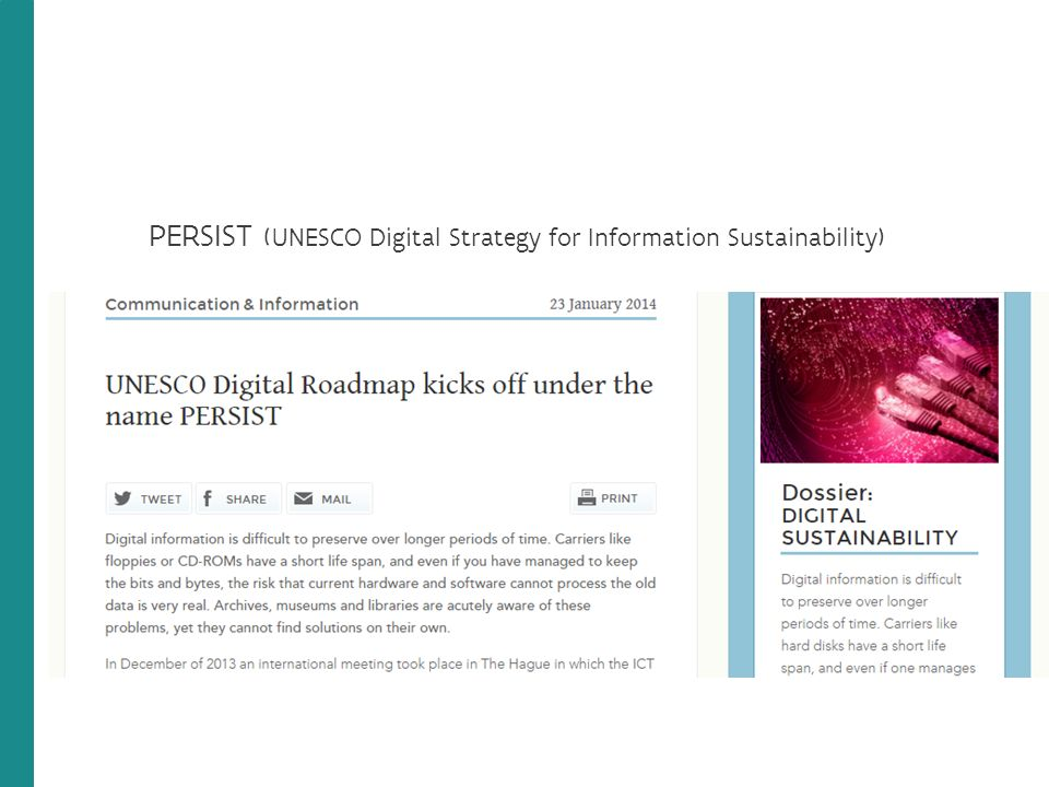 PERSIST (UNESCO Digital Strategy for Information Sustainability)