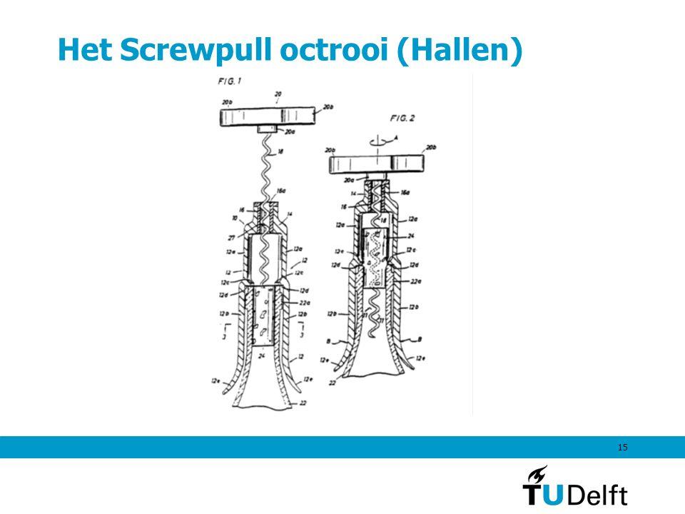 15 Het Screwpull octrooi (Hallen)