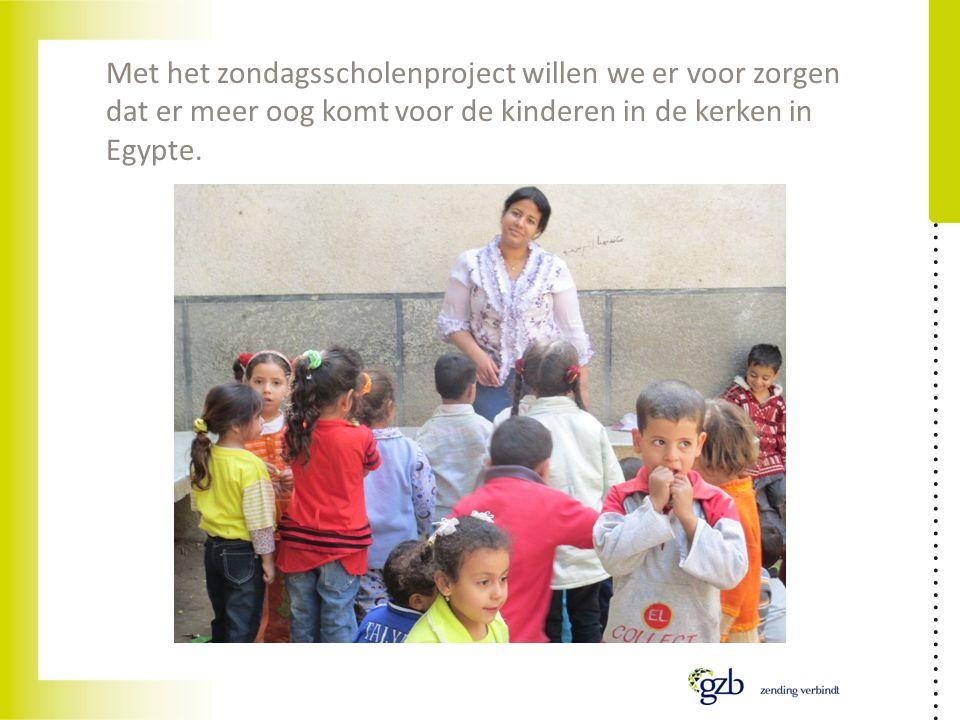 Met het zondagsscholenproject willen we er voor zorgen dat er meer oog komt voor de kinderen in de kerken in Egypte.