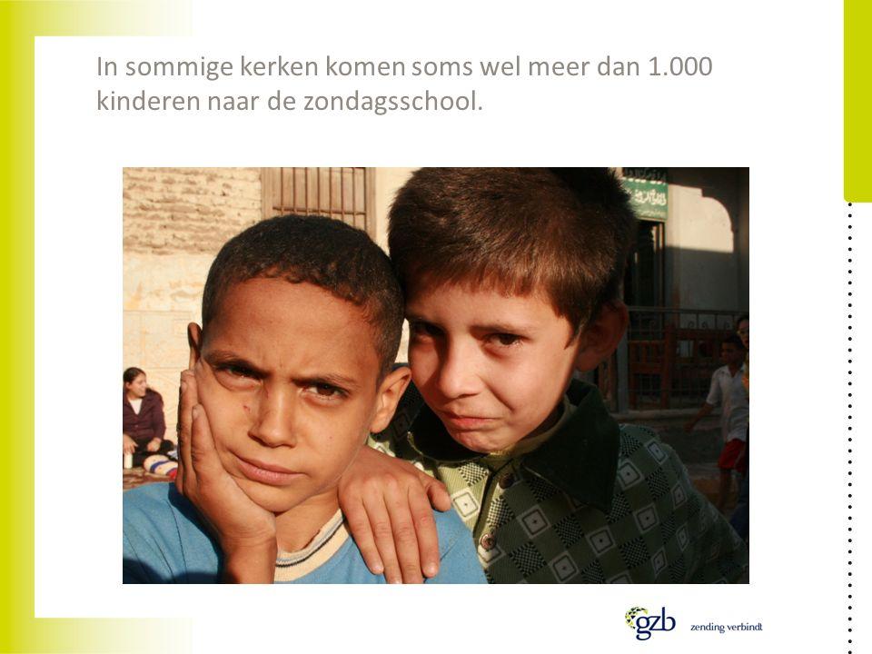 In sommige kerken komen soms wel meer dan 1.000 kinderen naar de zondagsschool.