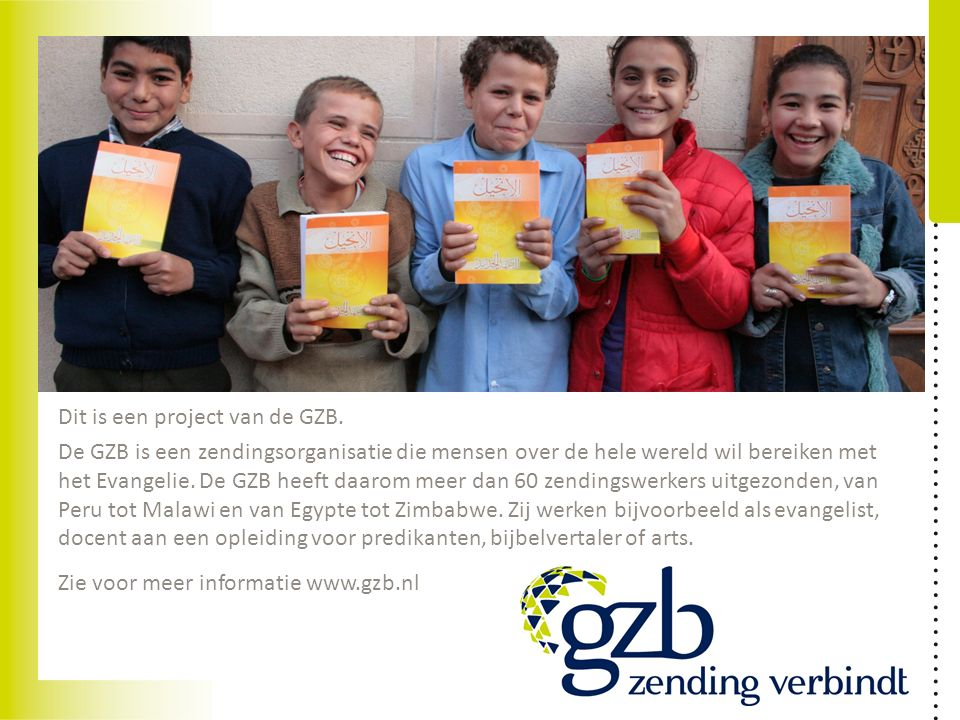 Dit is een project van de GZB.