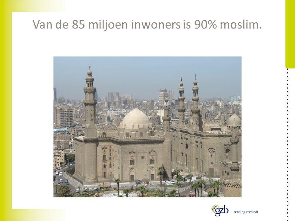 Van de 85 miljoen inwoners is 90% moslim.