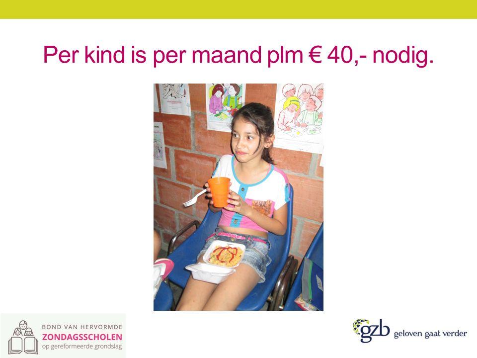 Per kind is per maand plm € 40,- nodig.