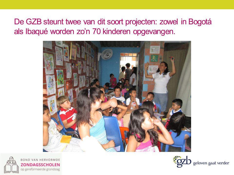 De GZB steunt twee van dit soort projecten: zowel in Bogotá als Ibaqué worden zo'n 70 kinderen opgevangen.