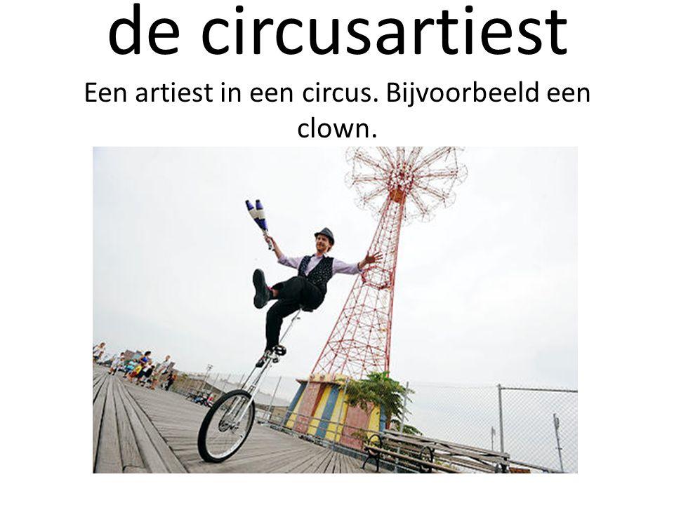 de circusartiest Een artiest in een circus. Bijvoorbeeld een clown.