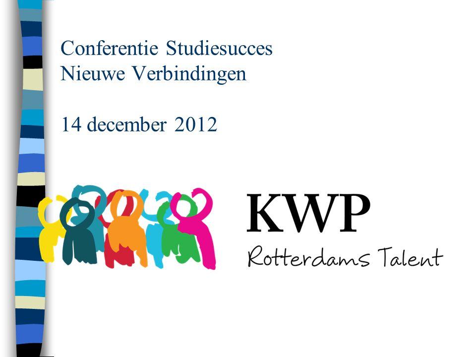 Conferentie Studiesucces Nieuwe Verbindingen 14 december 2012