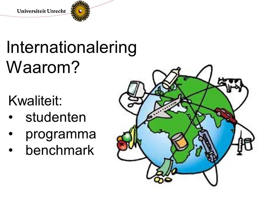 Kwaliteit: studenten programma benchmark Internationalering Waarom