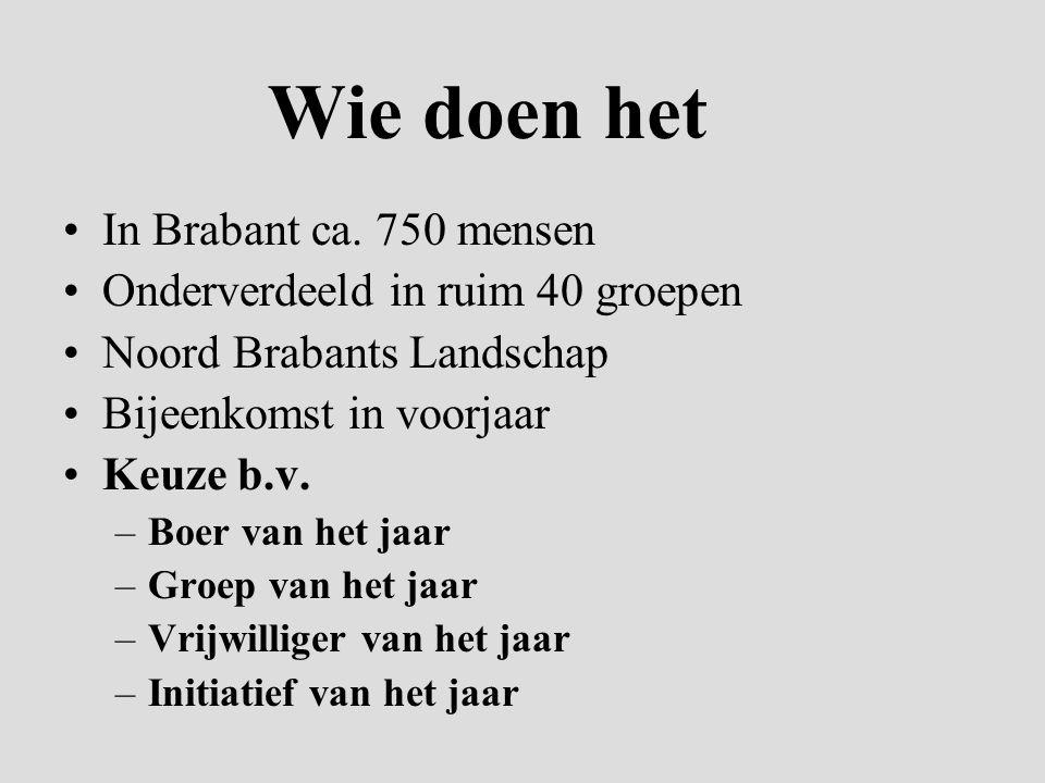Wie doen het In Brabant ca.