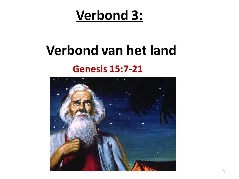 Verbond 3: Verbond van het land Genesis 15:7-21 13