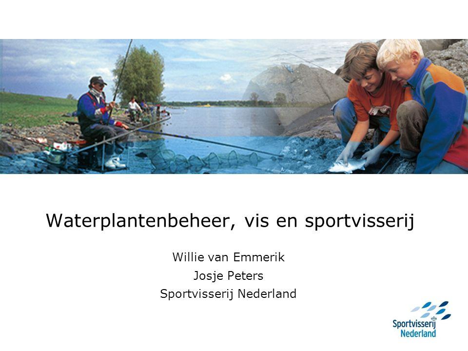 Waterplantenbeheer, vis en sportvisserij Willie van Emmerik Josje Peters Sportvisserij Nederland