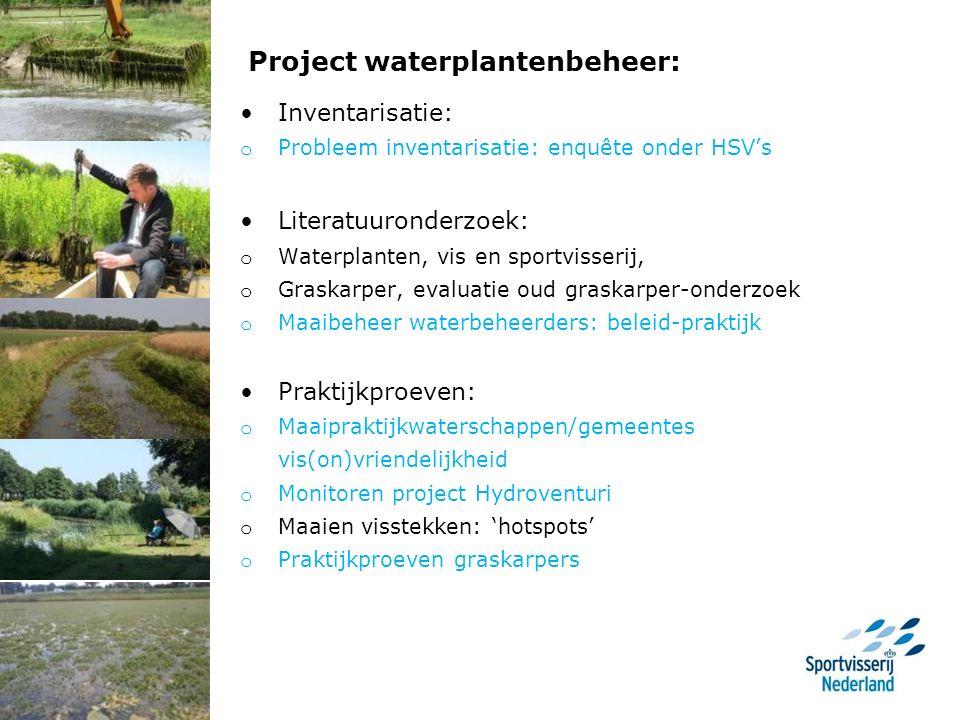 Waterplanten, ecosysteem en vis van belang ca. 20-60% bedekking optimaal