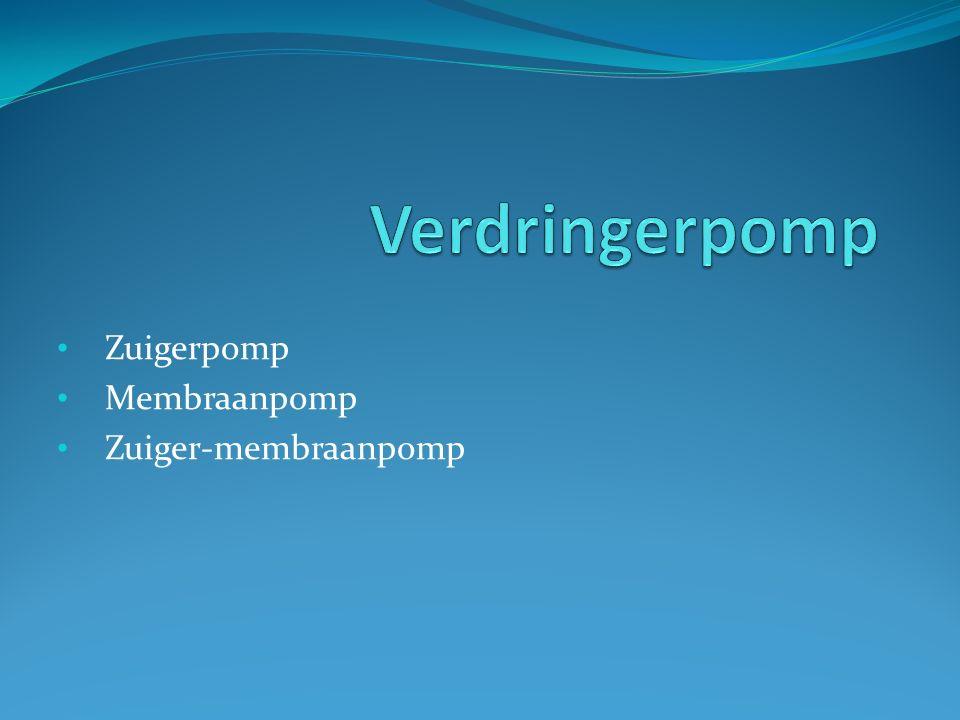 Zuigerpomp Membraanpomp Zuiger-membraanpomp