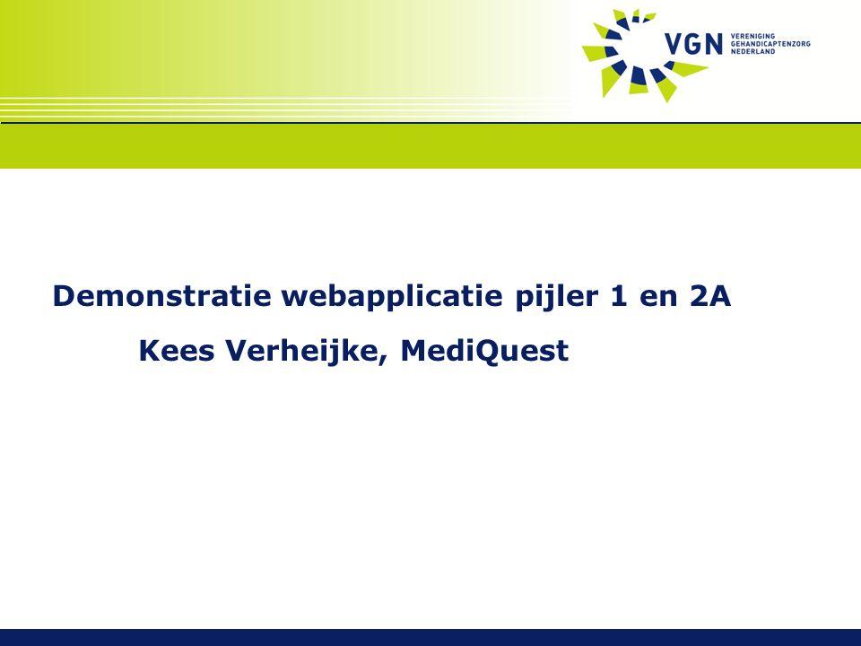 Demonstratie webapplicatie pijler 1 en 2A Kees Verheijke, MediQuest