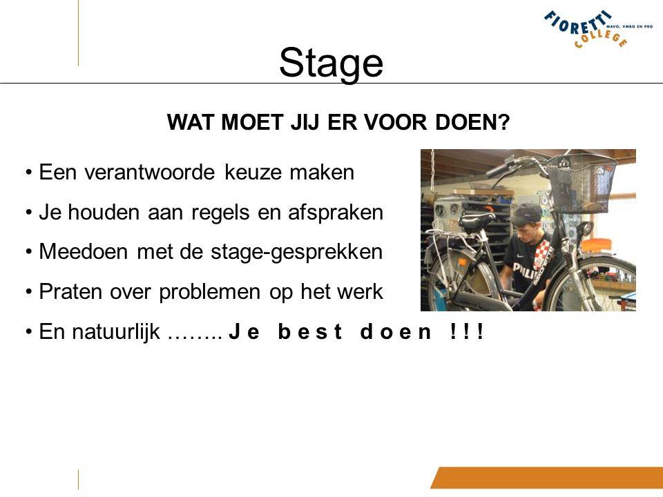Stage WAT MOET JIJ ER VOOR DOEN.