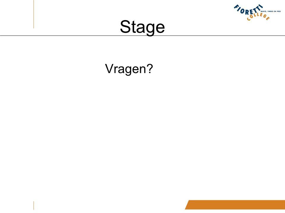 Stage Vragen