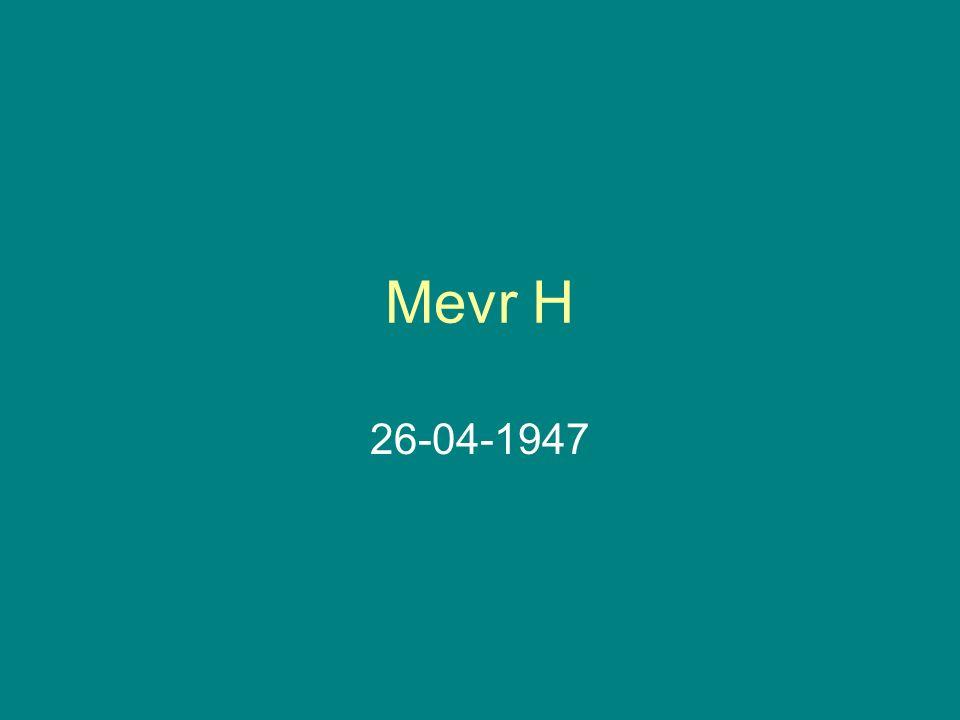 Mevr H 26-04-1947