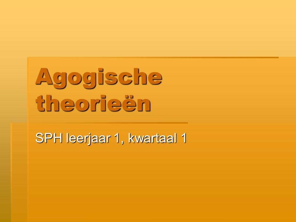 Agogische theorieën SPH leerjaar 1, kwartaal 1