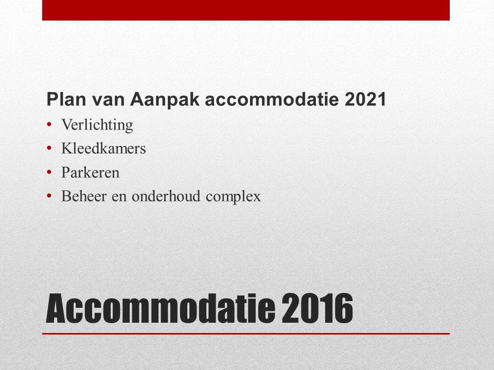 Accommodatie 2016 WIE WIL MEEDENKEN EN DOEN.Hoe moet ons complex er uit zien in 2021.