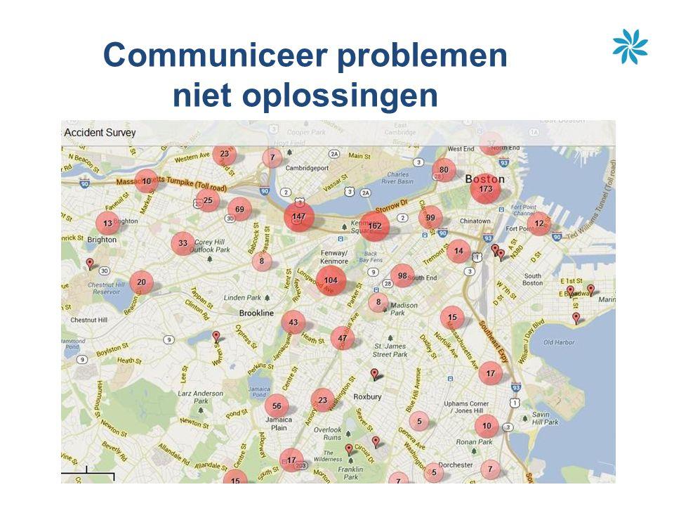 Communiceer problemen niet oplossingen