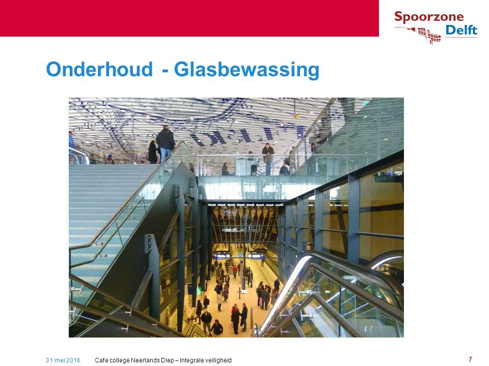 31 mei 2016 7 Onderhoud - Glasbewassing Stationsplein Cafe college Neerlands Diep – Integrale veiligheid