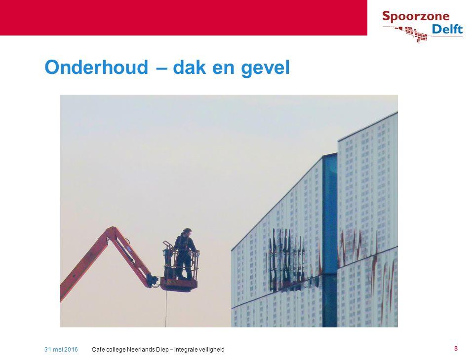 31 mei 2016 8 Onderhoud – dak en gevel Cafe college Neerlands Diep – Integrale veiligheid