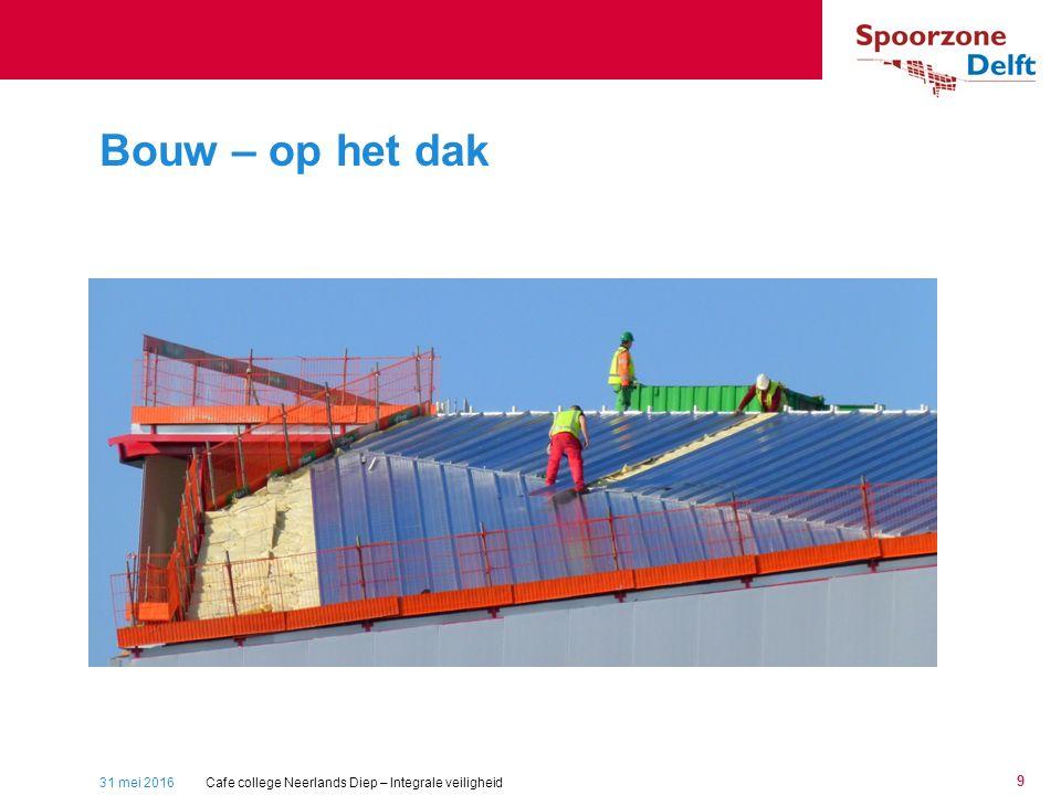 31 mei 2016 9 Bouw – op het dak Cafe college Neerlands Diep – Integrale veiligheid