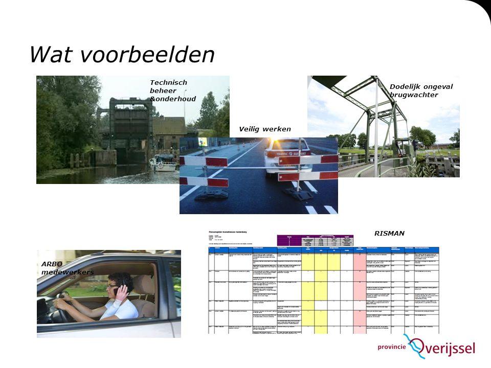 Wat voorbeelden Technisch beheer &onderhoud Veilig werken Dodelijk ongeval brugwachter ARBO medewerkers RISMAN
